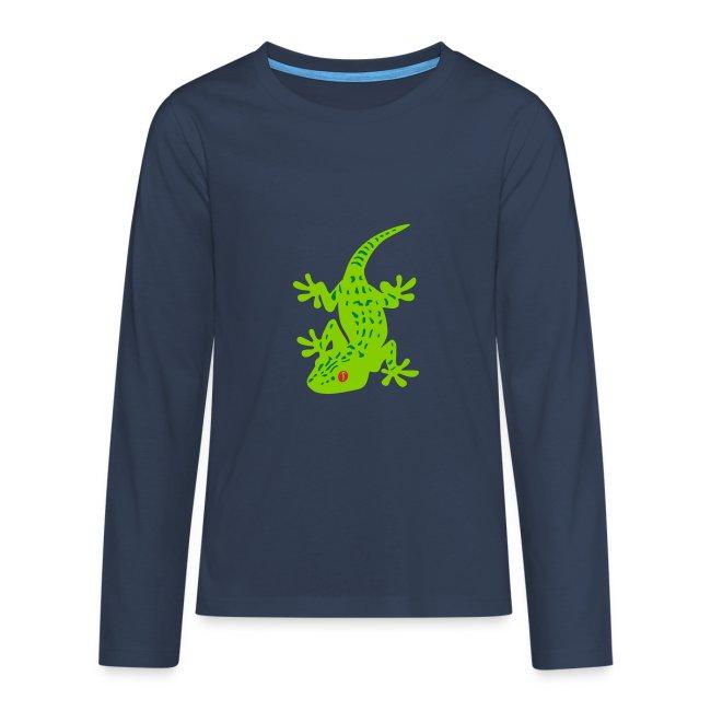 6a9d52580 Gecko tacheté t-shirt manches longues ado | T-shirt manches longues Premium  Ado