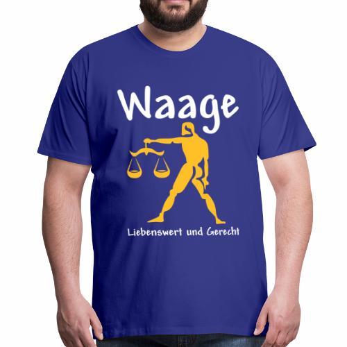 Sternzeichen Waage - Männer Premium T-Shirt