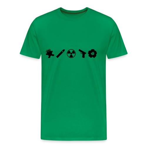 Northmoor 5 Icons Premium with flock print - Men's Premium T-Shirt