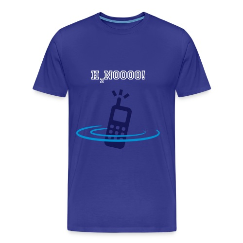 Swims with phone in pocket - Men's Premium T-Shirt