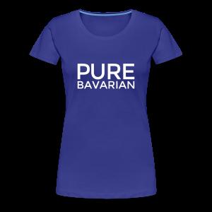 Pure Bavarian T-Shirt (Damen Blau) - Frauen Premium T-Shirt