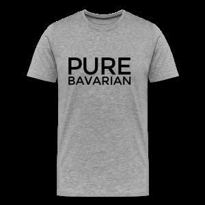 Pure Bavarian T-Shirt (Herren Grau) - Männer Premium T-Shirt
