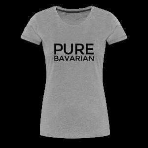 Pure Bavarian T-Shirt (Damen Grau) - Frauen Premium T-Shirt