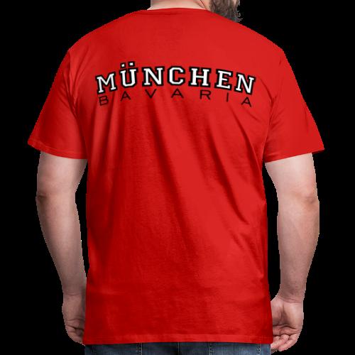 München Bavaria T-Shirt (Herren Schwarz/Weiß) Rücken - Männer Premium T-Shirt