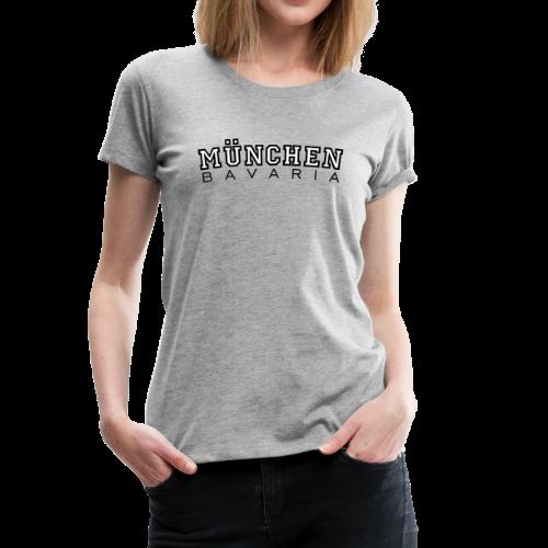 München Bavaria T-Shirt (Damen Schwarz/Weiß) - Frauen Premium T-Shirt
