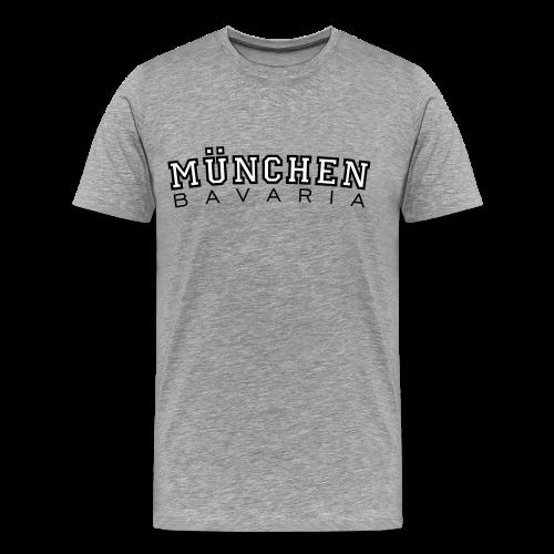 München Bavaria T-Shirt (Herren Schwarz/Weiß) - Männer Premium T-Shirt