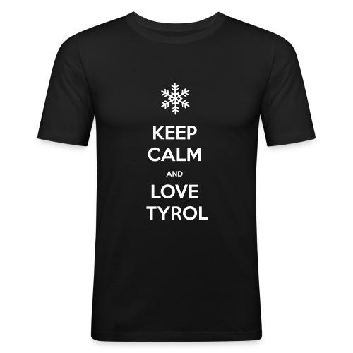 KEEP CALM AND LOVE TYROL T-SHIRT - Männer Slim Fit T-Shirt