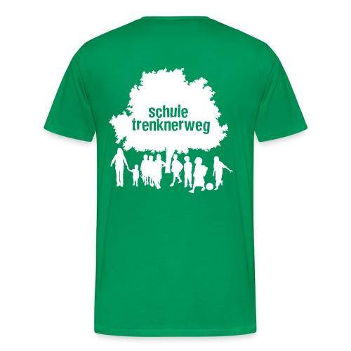 Grundschule Trenknerweg Logo - Weiss - Rückseite - Männer Premium T-Shirt