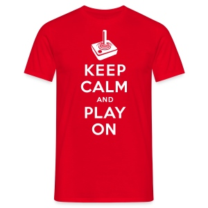 Keep Calm Game On - Joystick - Männer T-Shirt
