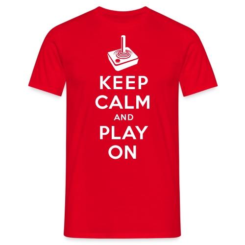 Keep Calm Game On - Joystick - Männer T-Shirt