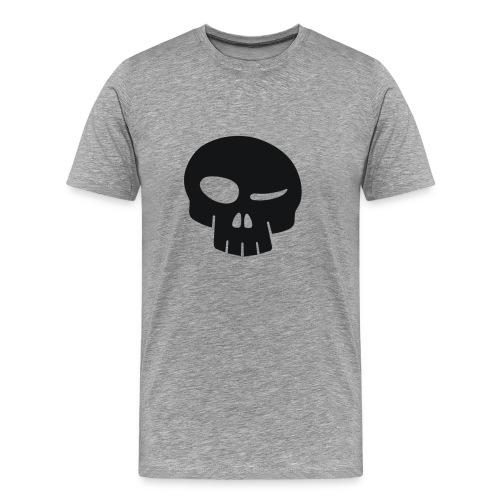 Forum T-Shirt mit schwarzem Skull - Männer Premium T-Shirt