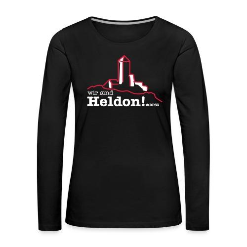 Heldon Girlie Longsleve - Frauen Premium Langarmshirt