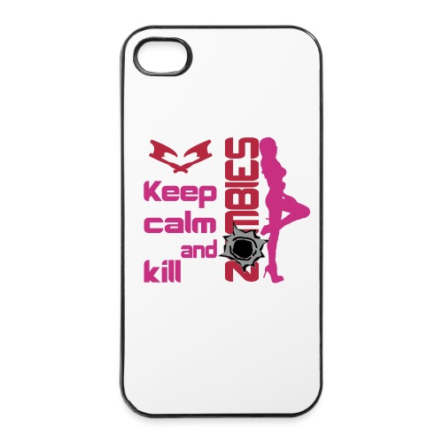 women's keep calm and kill zombies iphone case - iPhone 4/4s Hard Case