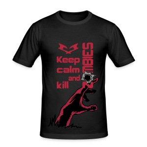 keep calm and kill zombies  - Men's Slim Fit T-Shirt