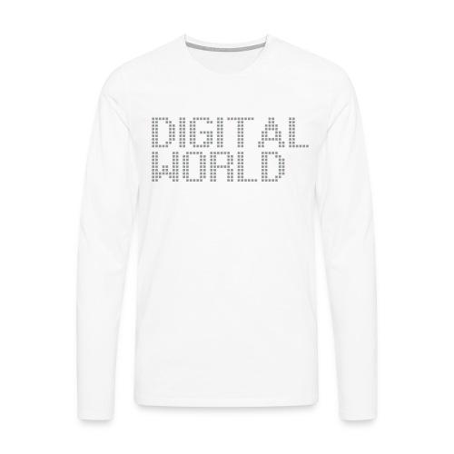 Digital World longsleeve - Mannen Premium shirt met lange mouwen