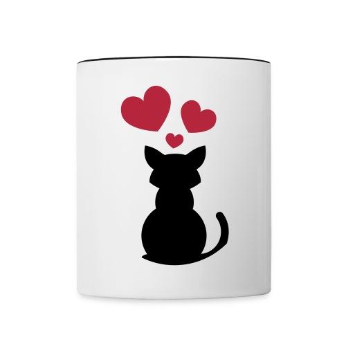 Chat amoureux - Mug contrasté