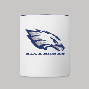 Häferl weiß-blau - Tasse zweifarbig