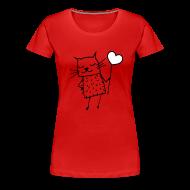 T-Shirts ~ Frauen Premium T-Shirt ~ Katze -  Liebe, Love und Herz