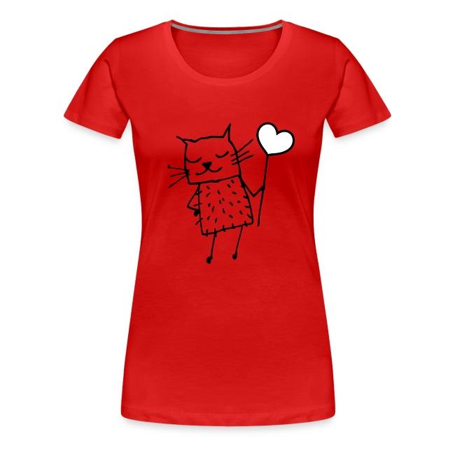 Katze -  Liebe, Love und Herz