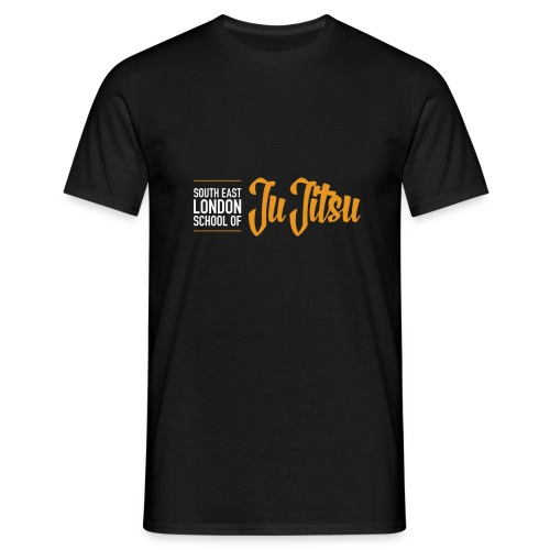 Black T-Shirt - Large Logo Front & Black - Men's T-Shirt