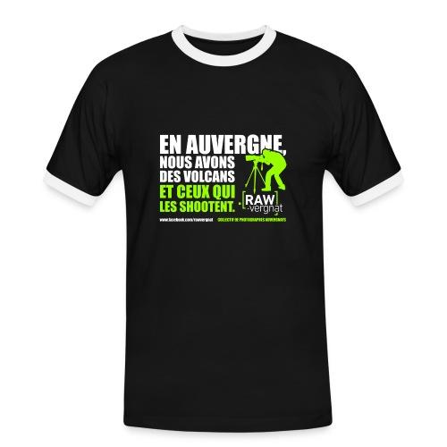Tee shirt AUVERGNE VOLCANS RAWvergnat - T-shirt contrasté Homme