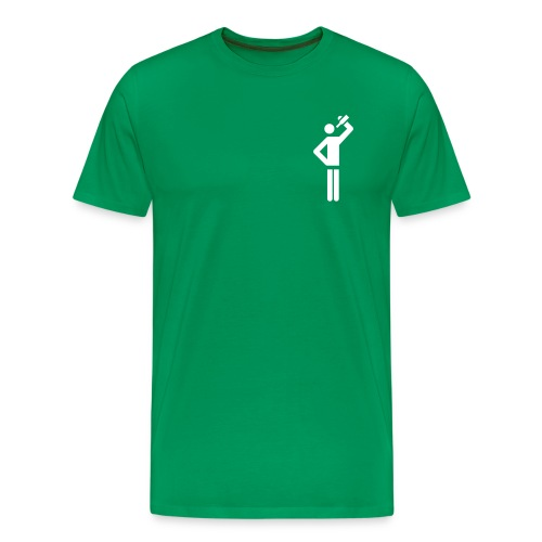 Fluckyball Trinkpose (Logo weiss) - Männer Premium T-Shirt