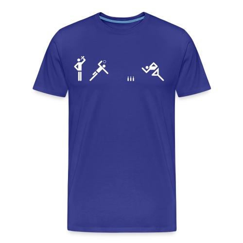 Flunkyball Tunier (weisses Logo) - Männer Premium T-Shirt