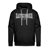 Pullover & Hoodies ~ Männer Premium Kapuzenpullover ~ Hoodie Ratzinger Sport (weißer Druck)
