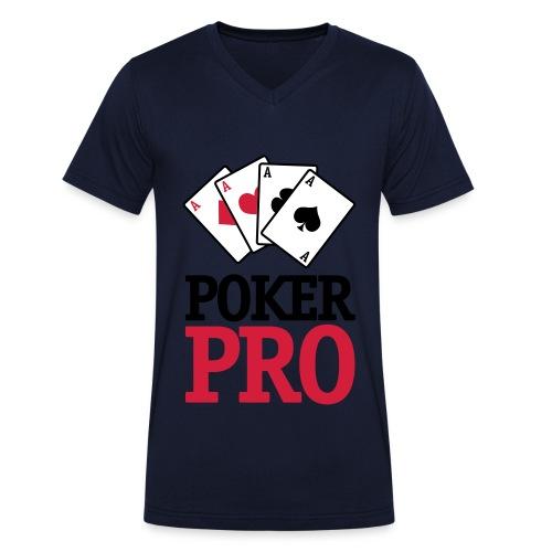 Poker Pro - Camiseta ecológica hombre con cuello de pico de Stanley & Stella