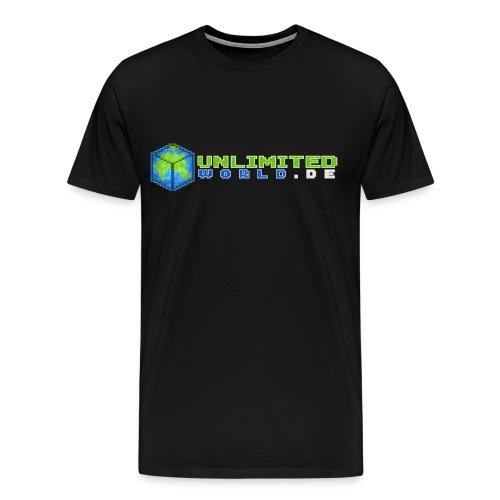T-Shirt Männer - .DE in weiß - Männer Premium T-Shirt