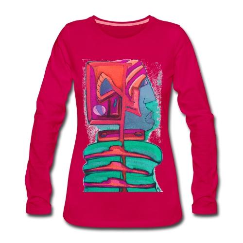2030-Rot - Frauen Premium Langarmshirt
