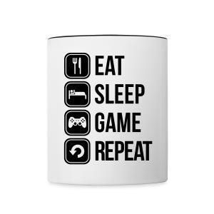 eat, sleep, game, repeat mug - Contrasting Mug