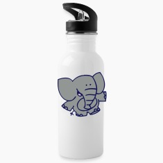 Little Elephant by Cheerful Madness!! Bottles & Mugs