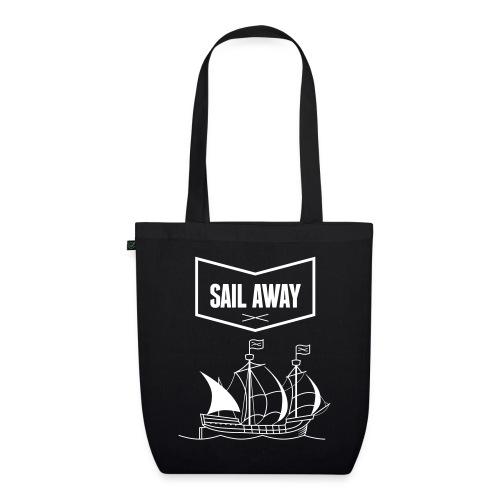 Sail Away x Black Cotton Bag - Bio-Stoffbeutel