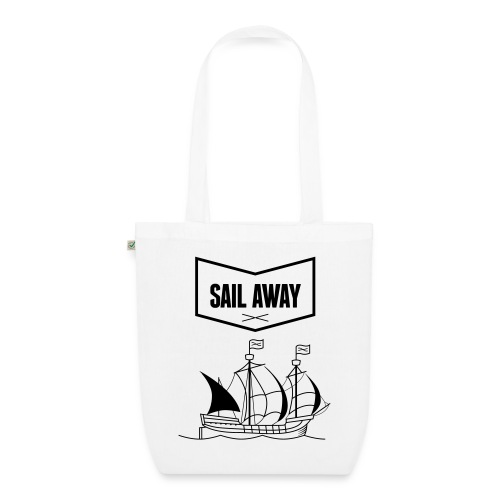 Sail Away x White Cotton Bag - Bio-Stoffbeutel
