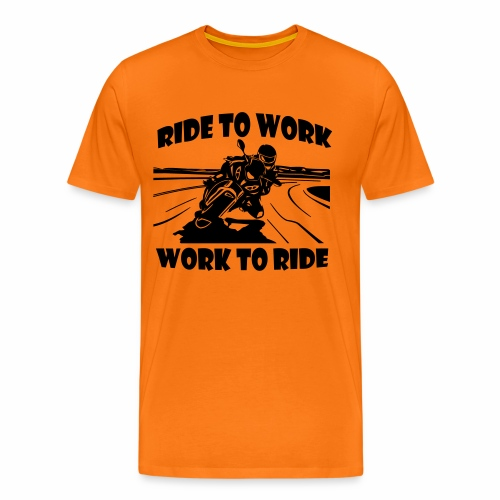 Ride to Work - Men's Premium T-Shirt
