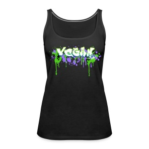 Vegan 4Life Graffiti Splat - Frauen Premium Tank Top