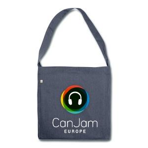CanJam Europe - messenger bag (logo wt) - Shoulder Bag made from recycled material