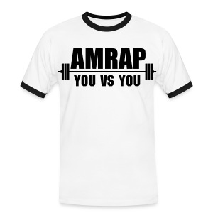 AMRAP As Many Reps As Possible - Men's Ringer Shirt