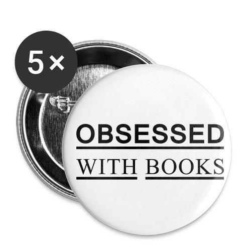 Buttons mittel 32 mm - OBSESSED WITH BOOKS I Mehr auf Facebook unter WORTFORM