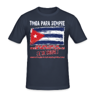 T-Shirts ~ Men's Slim Fit T-Shirt ~ TimbaParaSiempre Slim Fit - Navy Blue