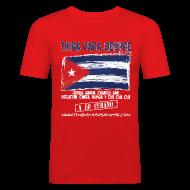 T-Shirts ~ Men's Slim Fit T-Shirt ~ TimbaParaSiempre Slim Fit - Red