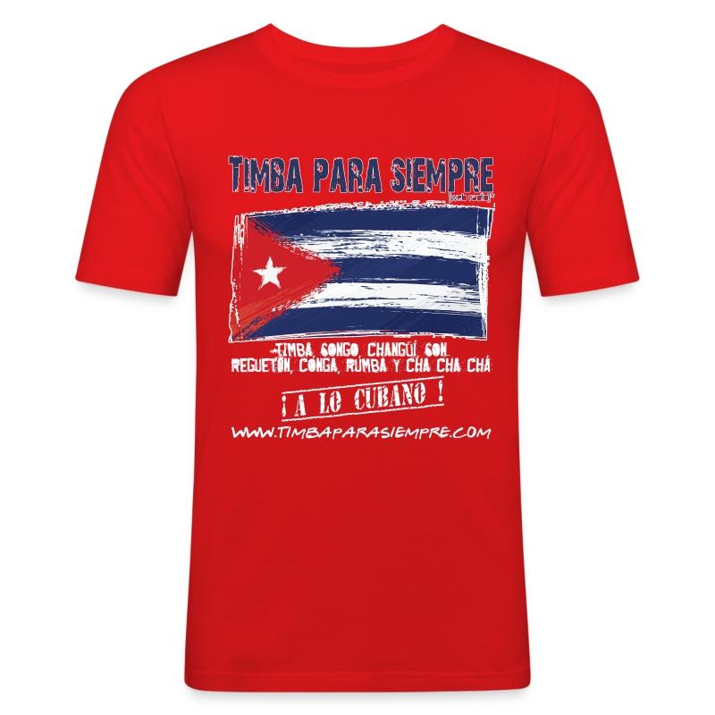 TimbaParaSiempre Slim Fit - Red - Men's Slim Fit T-Shirt