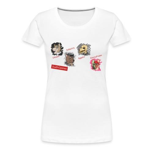 Klara Collection #7 - DualD-canines (Dam) - Premium-T-shirt dam