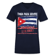 T-Shirts ~ Men's V-Neck T-Shirt ~ TimbaParaSiempre Men V - Navy Blue