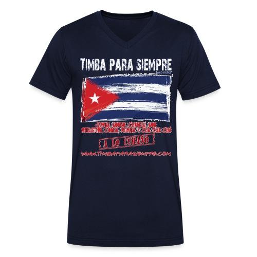 TimbaParaSiempre Men V - Navy Blue - Men's Organic V-Neck T-Shirt by Stanley & Stella