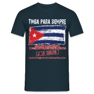 T-Shirts ~ Men's T-Shirt ~ TimbaParaSiempre Regular Fit Men - Navy Blue