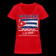T-Shirts ~ Women's V-Neck T-Shirt ~ TimbaParaSiempre Women V - Red