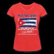 T-Shirts ~ Women's V-Neck T-Shirt ~ TimbaParaSiempre Women V - Coral
