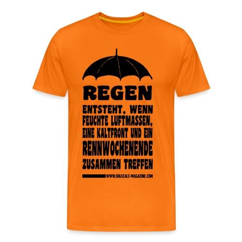 Regen entsteht. Schwarzer Druck - Männer Premium T-Shirt